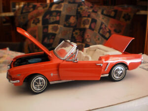franklin mint 1965 ford mustang convertible 1/24