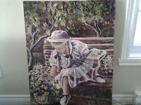 Toile Claude Bonneau,peintre,cadre,peinture,evaluer a 1700.00$