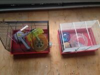Hamster cages and accessories.