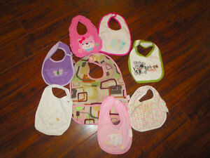 Bibs, some have stains, lots of life yet.