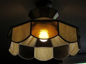 Beautiful stained glass hanging light fixture