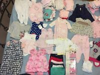 Baby girl clothes 3-6mths 60+ items