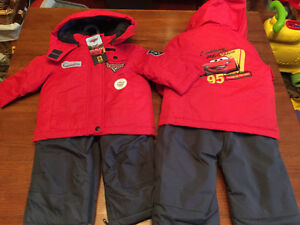 New! Disney Cars 2 piece snow suit sets size 12-18 mths Reduced! Kitchener / Waterloo Kitchener Area image 1