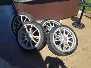 """17"""" wheels with tires"""