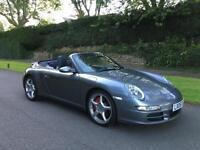 2006 Porsche 911 997 3.8 Carrera 4S 350BHP 4WD Convertible. Matching Hard Top.