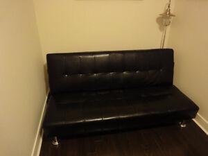Convertible Sofa to Bed Klik Klak in Black