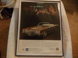 old cadillac classic car framed ads Windsor Region Ontario image 2
