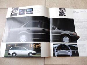 Vintage 1991 Toyota Corolla Sales Brochure Pamphlet Kitchener / Waterloo Kitchener Area image 5