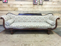 Antique Empire Sofa - Delivery Available