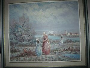Beautiful large oil painting-- New price!!!