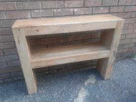 Oak furniture land console table