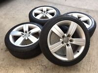 "GENUINE AUDI 17"" ALLOYS W/WINTER TYRES A3/A4/A6 VW GOLF PASSAT TOURAN SEAT SKODA -SLOUGH"