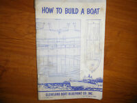 How to Build a Boat by Cleveland Boat Blueprint Co. Inc. 1957