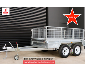 8x5 TANDEM HOT DIP GALVANISED TRAILER, INCLUDES GST, NEW TYRES