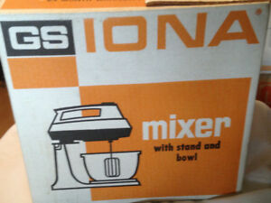 New- Iona mixer with stand and bowl