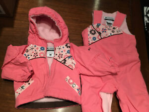 12 month baby girl Columbia 2-piece snowsuit