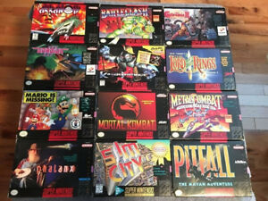 SNES COLLECTION, SOME BOXES & MANUALS MUST SEE - Dec 8/17