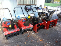 TORO Snow throwers for sale