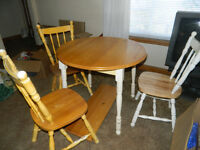 Table, 3 chairs