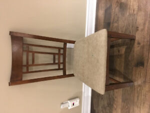 3 chairs with wood frame for only $15 each