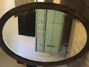 Antique hanging mirror