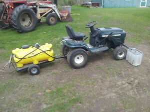 Craftsman Lawn tractor and Sprayer