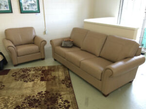 one Leather Sofa and chair, NEW