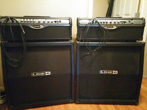 Line 6 heads and cabinets