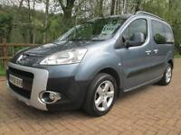 08/58 PEUGEOT PARTNER TEPEE 1.6 HDI MPV IN MET GREY WITH SERVICE HISTORY