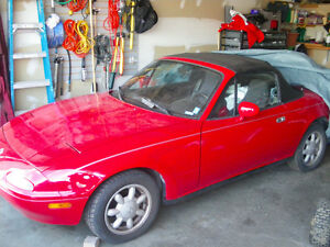 This is a WOW! 1993 Mazda Miata Mx-5 Convertible - Classic Red