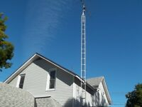Antenna with tower