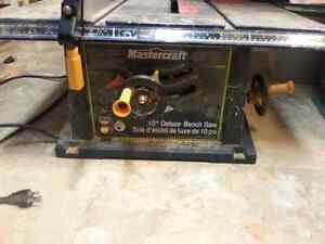 "10"" Mastercraft Table saw"