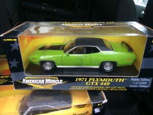 AMERICAN MUSCLE 1971 plymouth gtx 440 -- 1/18 scale