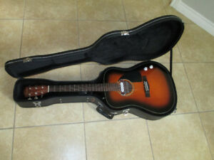 fender CD 60 ac/ electric and hard case
