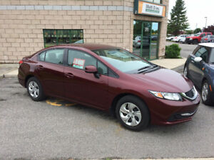 2013 Honda CIVIC LX 16,000km