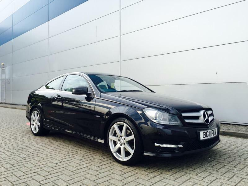 2011 11 reg mercedes benz c250 cdi amg sport coupe black for Mercedes benz c250 amg
