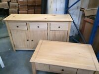 Wood sideboard and coffee table new