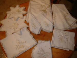 Winter / Xmas Table Linens 56 pieces