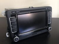 Genuine vw Volkswagen Golf rns 510 sat nav mk5 mk6 gti r32 golf r gtd passat caddy seat