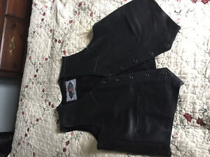Leather chaps pants and vest