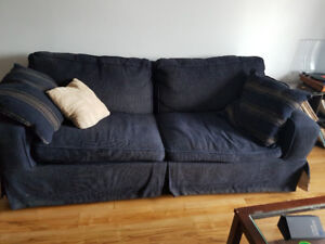 Couch and love seat . Moving need gone