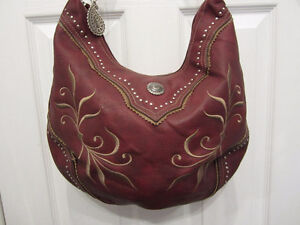 #67 Bandana by American West Red Leather Hobo style $50.00