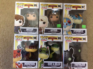 Funko How to train your Dragon 2 (Set of 6) Vaulted 2014