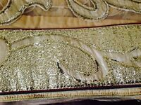 Gold and beige designer saree(dress material)