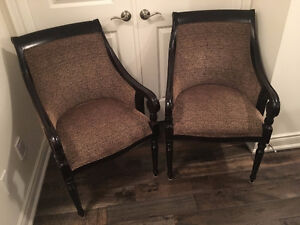 Bombay Company Wing back arm chairs