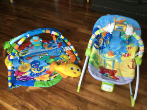 Baby Einstein Rhythm of the Reef Play Gym and Bounce Chair