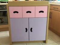 Next. Pink purple baby changing storage unit. Nursery. Excellent condition.
