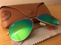 Ray Ban Flash Aviator Sunglasses