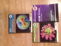A collection of A-level books