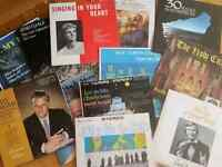Vintage vinyl records: sacred, classical, and choral music